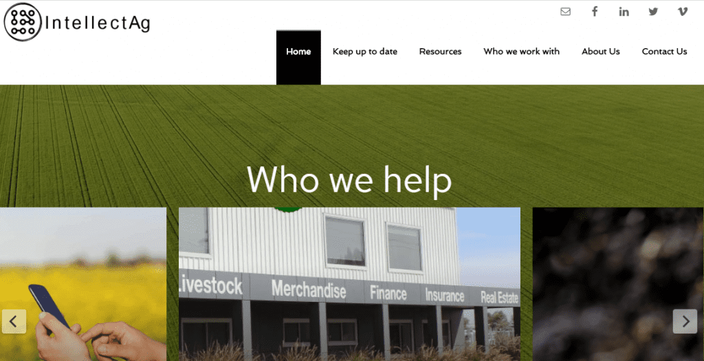 Intellect Ag Website Moree by North West Marketing